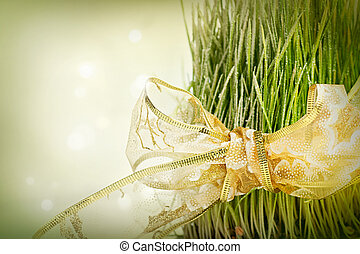 Christmas wheat. Christmas background with traditional wheat...