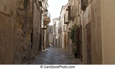 Narrow street in Italian village - Narrow street in southern...
