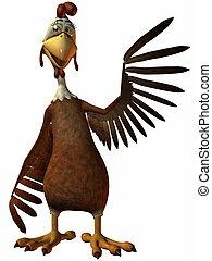 Toon Chicken - 3D Render of an Toon Chicken
