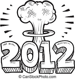 2012 End of the world sketch - Doodle style Goodbye 2012 New...