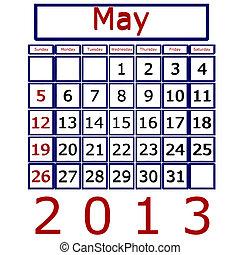May 2013 Calendar
