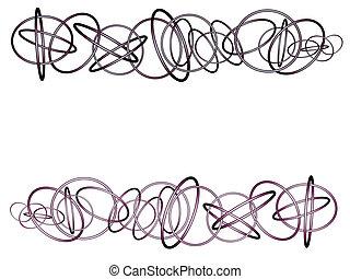 3d floating glossy ring torus shape on white
