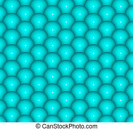 abstract 3d render backdrop of glossy blue balls