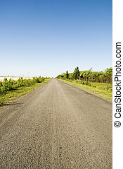 road - a road and blue sky