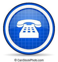 藍色, 電話, 有光澤, 背景, 白色, 圖象