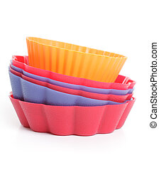 some silicone bakeware