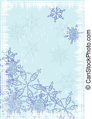 grunge background with snowflakes