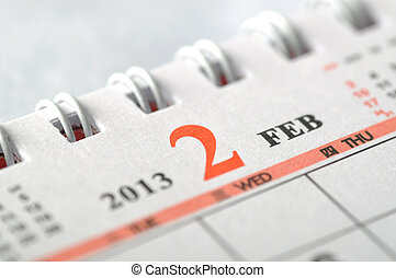2013, 2 月, カレンダー