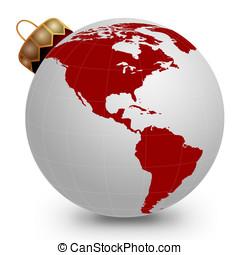 Global Christmas Ornament