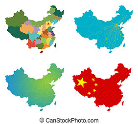 Vector China map set