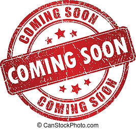 Vector coming soon - Vector red coming soon stamp isolated...
