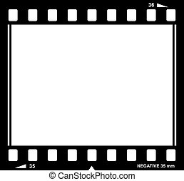 Vector film strip illustration isolated on white