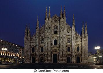 Milan Cathedral night shot - Night shot of the famous Milan...