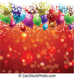 Christmas background with balloons