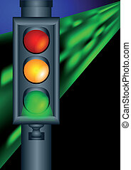 traffic lights on night road 10 EPS
