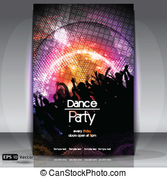 Disco Party Background. Vector Illustration