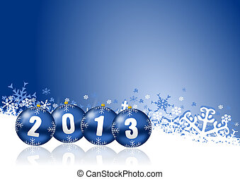 2013, nouveau, années, Illustration, noël,...