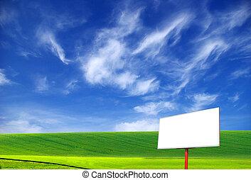 billboard - Billboard on a background of the blue sky