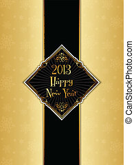 Happy new year menu design - Decorative design for a Happy...