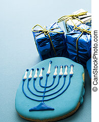 Cookies - Gourmet cookies decorated for Hanukkah