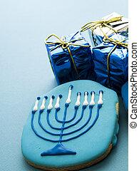 Cookies - Gourmet cookies decorated for Hanukkah.