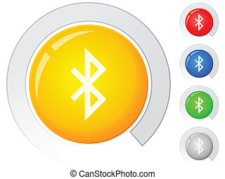 buttons bluetooth - Circle buttons with bluetooth symbol....