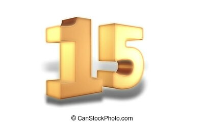 15 percent - gold - Animation on discount promotion -...
