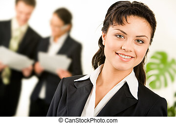 Female leader - Portrait of successful businesswoman in...