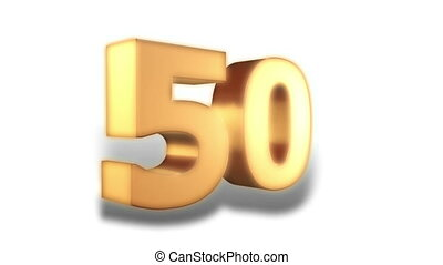 50 percent - gold - Animation on discount promotion -...
