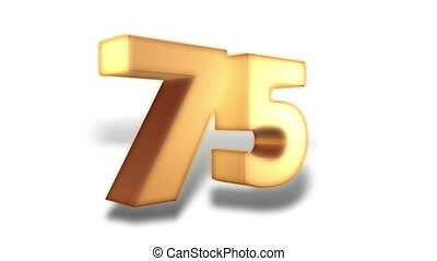 75 percent - gold - Animation on discount promotion -...
