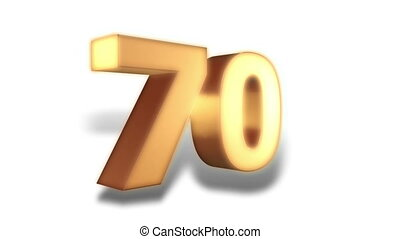 70 percent - gold - Animation on discount promotion -...