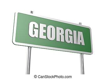 Georgia sign board