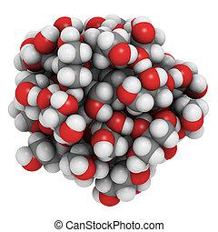 líquido,  (glycerine), esfera,  glycerol, moléculas, modelo