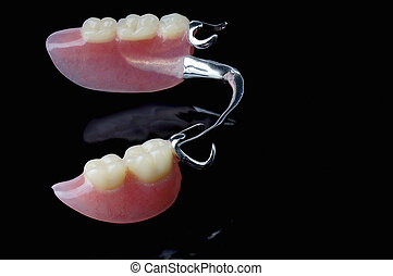 parcial, dentadura, negro, Plano de fondo