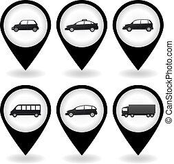 set of isolated car image - set of black isolated car image...