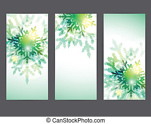 Set of vector christmas banners