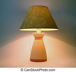 Table lamp - Nice luminous electric lamp with lampshade on...