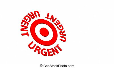 Urgent Target - Target and dart with circular text Part of a...