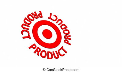 Product Target - Target and dart with circular text. Part of...