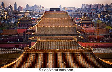 Yellow Roofs Beijing - Yellow Roofs Forbidden City Beijing...
