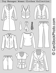 Top manager woman clothes set - Top manager woman clothing...