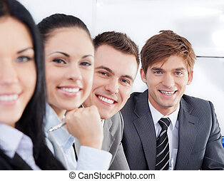 Business people - Portrait happy smile business people group...