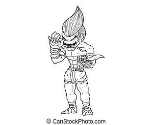 Muay Thai Boran :character cartoon1