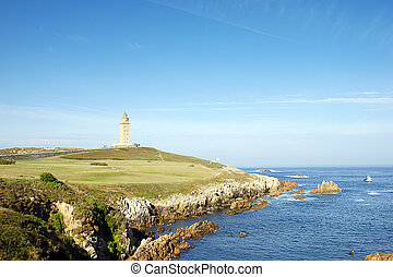 Hercules Tower in A Coruna, Spain