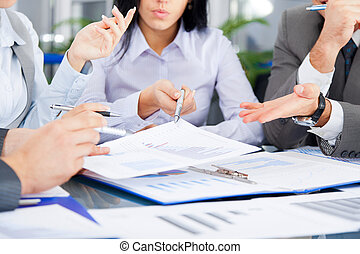 Business people - business people team work group during...