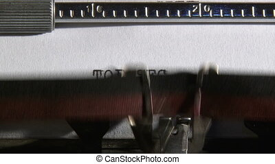 Typewriter, Top secret, 3 clips - Typewriter, Top secret,...