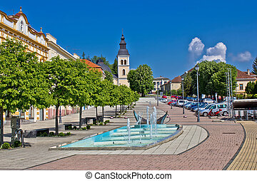 Town of Daruvar main square - Town of Daruvar colorful main...