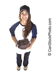 Woman Baseball or Softball Player I - Woman baseball or...