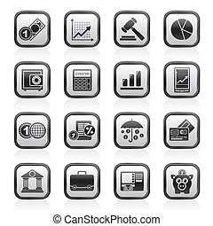 Business and finance icons - vector icon set