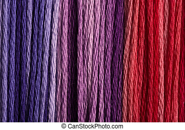 threads - Colored wool thread background